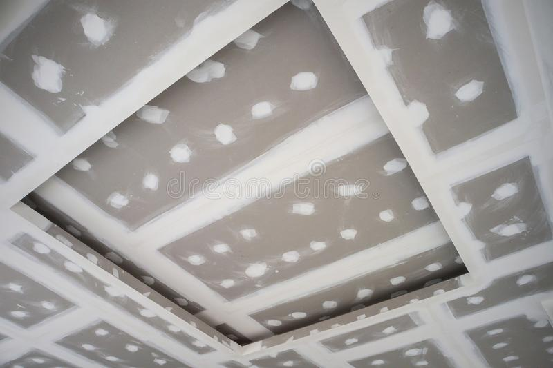 installation photo of gypsum co structure tulum smsender stock ceilings ceiling suspended board and