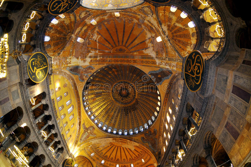 Download Ceiling In The Hagia Sophia Church Stock Image - Image: 24492963