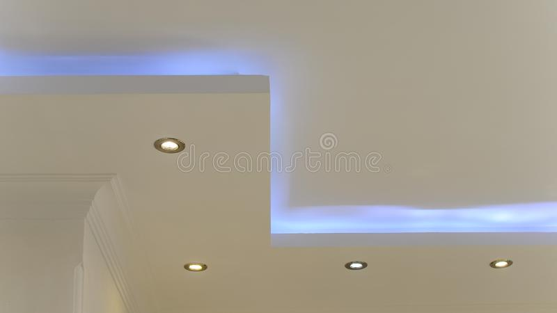 Ceiling Hidden And Spot Lights Stock Image Image Of Decor Ceiling 157809631