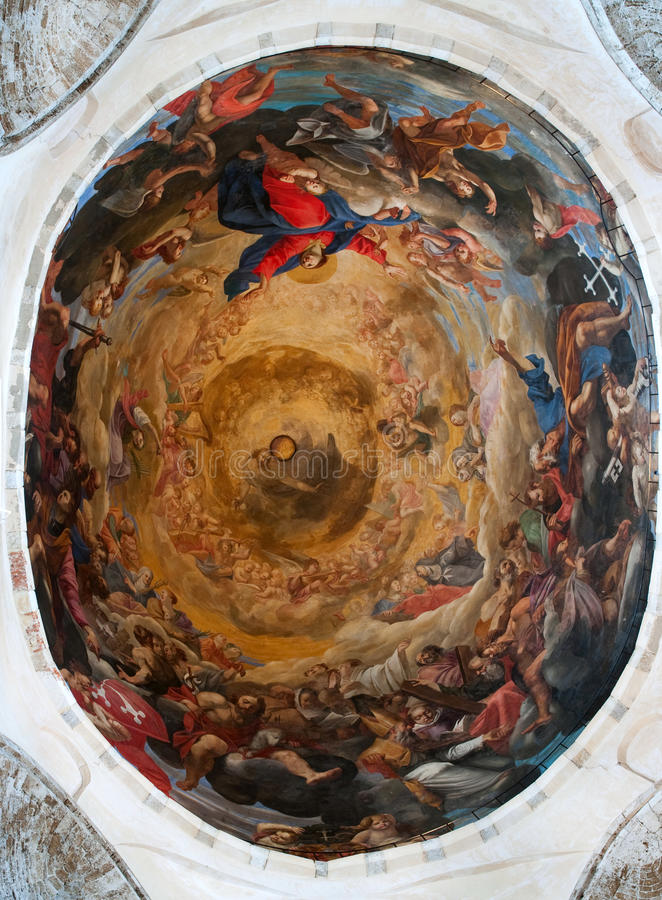 Free Ceiling In A Dome Of The Cathedral Of Pisa. Stock Photo - 17833750