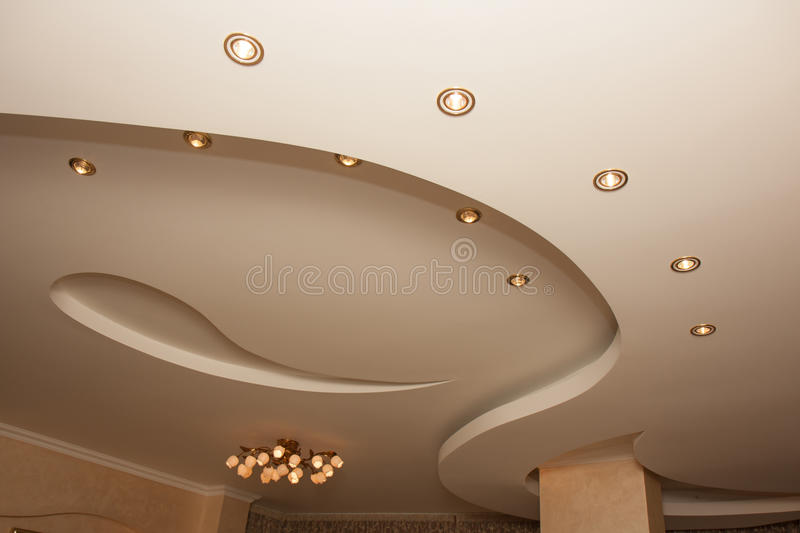 Ceiling. Indoor apartment, architecture, design royalty free stock image