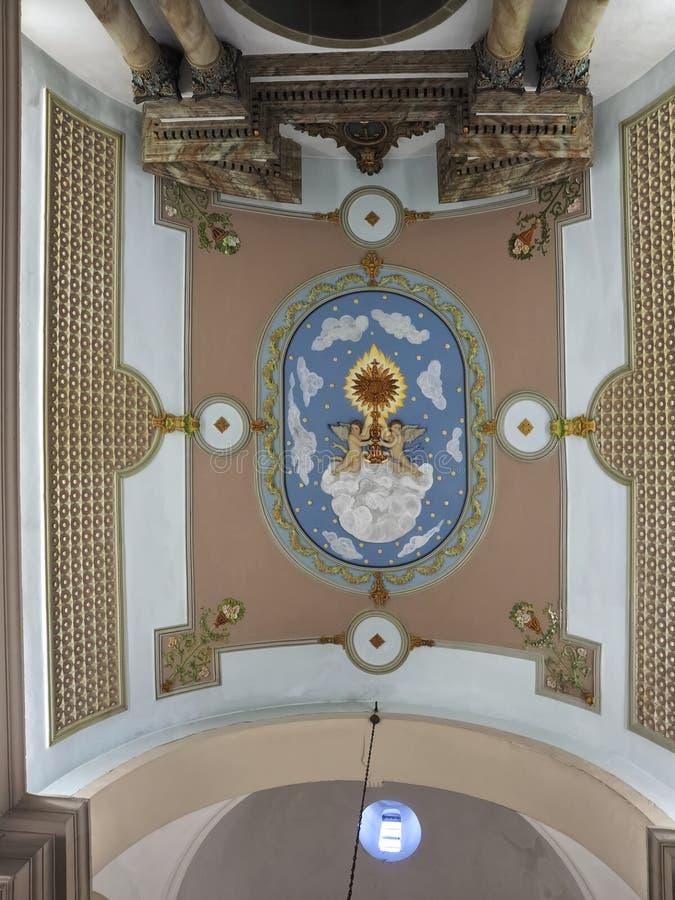 Free Ceiling Inside City Church Igreja Matriz Da Fuseta At The Algarve Coast Of Portugal Royalty Free Stock Photos - 215742138