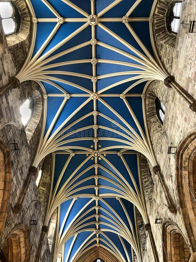 Ceiling inside St. Giles Cathedral, Scotland stock images