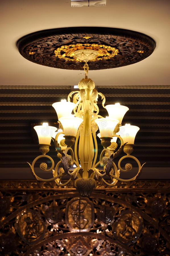 Ceiling lamp royalty free stock photo