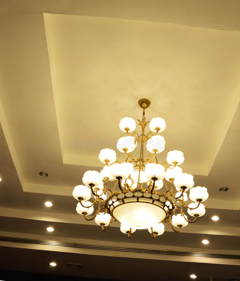 Ceiling lamp stock image