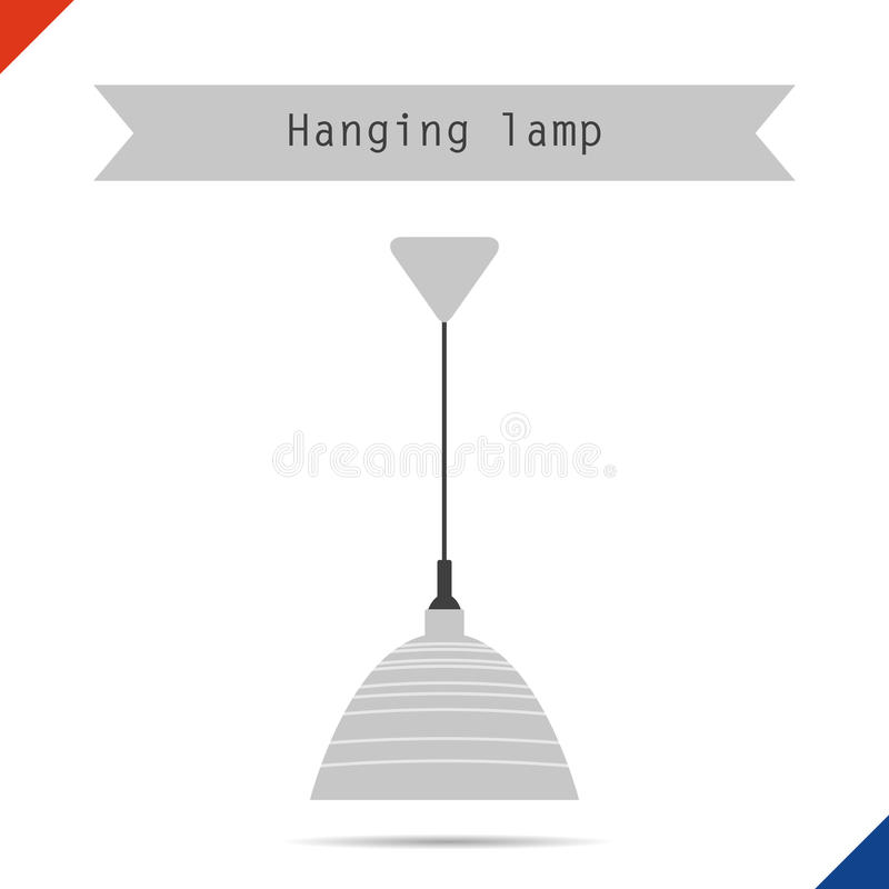 Ceiling Lamp With Shade Stock Vector