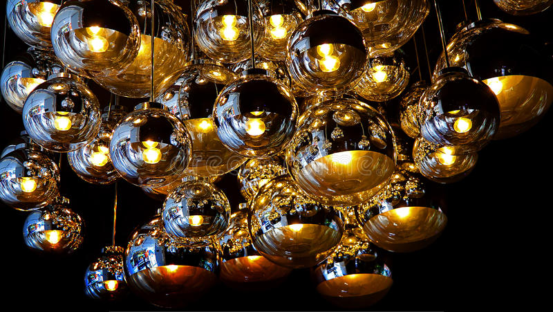Ceiling lights graphic design royalty free stock photography