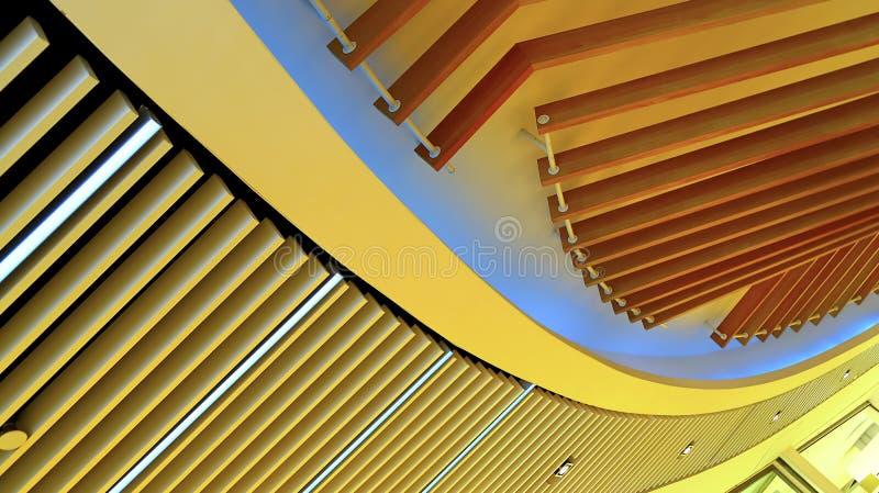 Ceiling lights wooden fixture graphic design stock photo