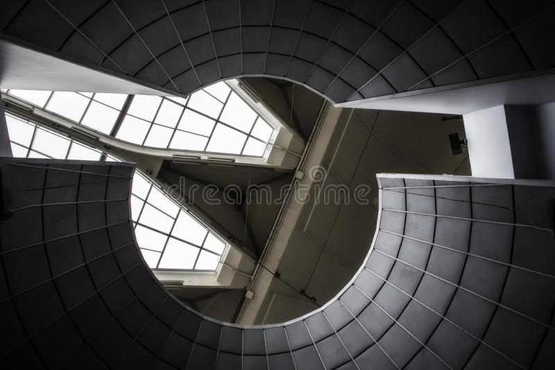 Ceiling at the Montreal Biodome in Montreal Quebec Canada. A picture of the ceiling at the Montreal Biodome in Montreal Quebec Canada royalty free stock image