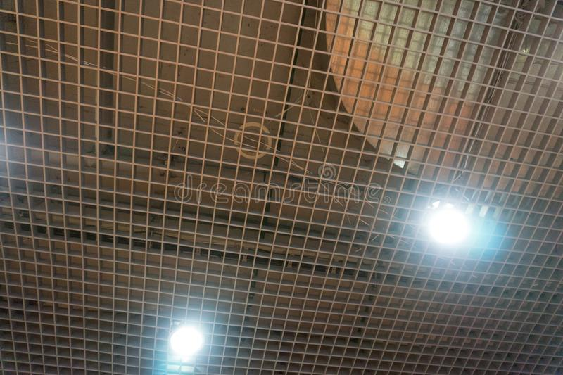 Ceiling noise panels perforated plastic polymer reduction,. Ceiling noise panels perforated plastic polymer reduction stock images