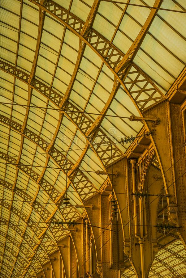 Free Ceiling Of Gare De Nice Ville Train Station With Metal Frame At  Cote D Azur, Nice, France Royalty Free Stock Photography - 181349257