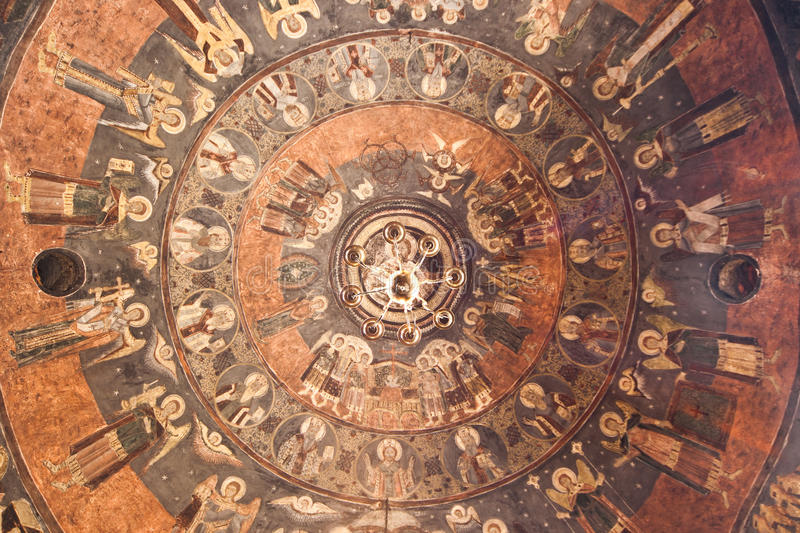 Ceiling of an Orthodox Church royalty free stock photos