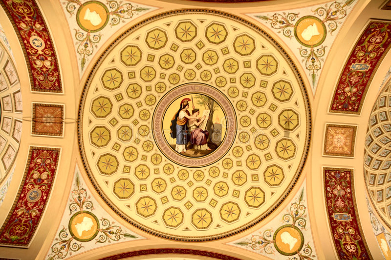 Ceiling of palace royalty free stock photos