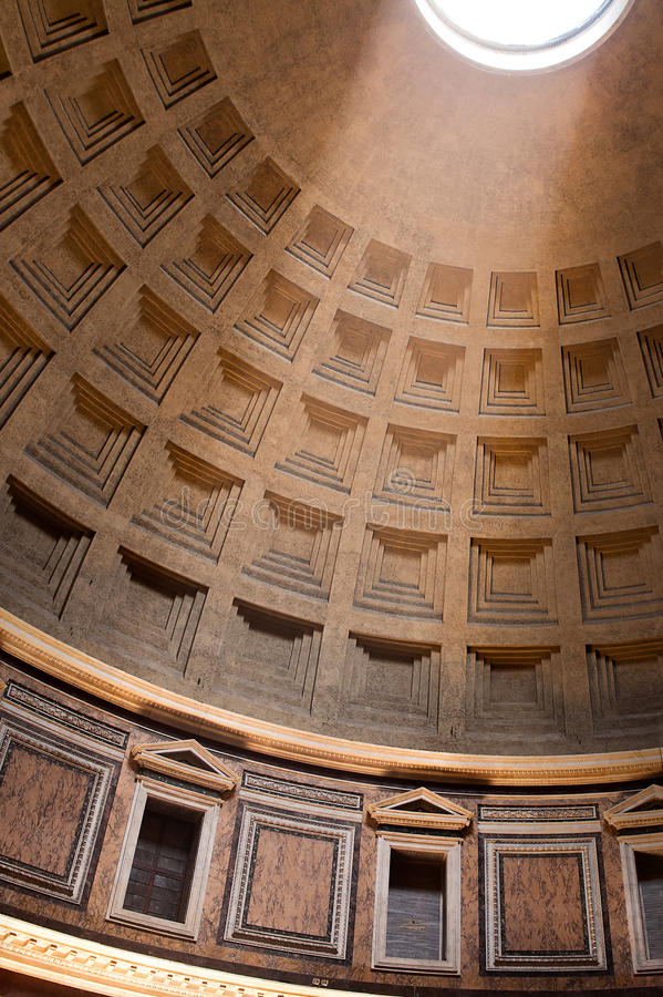Download Ceiling Of Pantheon In Rome Stock Image - Image: 33958811