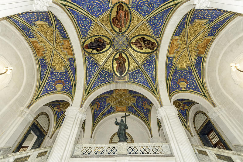 Ceiling of the peace palace royalty free stock photography