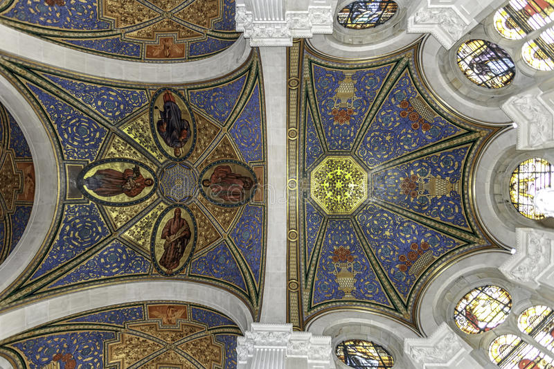 Ceiling of the peace palace royalty free stock photos