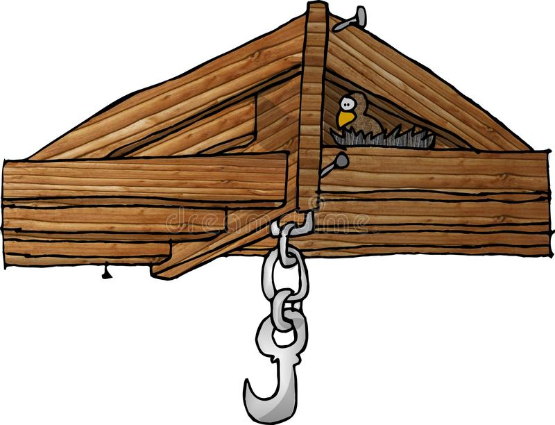 Download Ceiling rafters stock illustration. Image of cartoon, funny - 55402