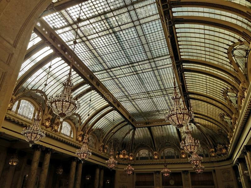 Ceiling san francisco chandelier funale candelabro luxury royalty free stock photography