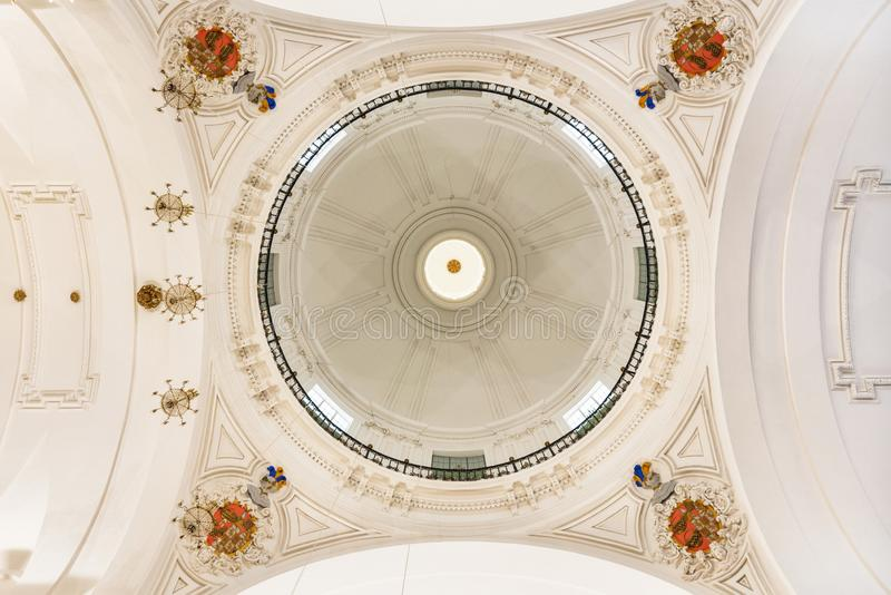 Ceiling of the San Ildefonso church in Toledo, Spain royalty free stock photography