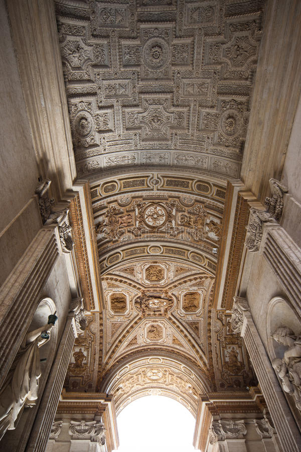 Ceiling at San Pietro royalty free stock photography