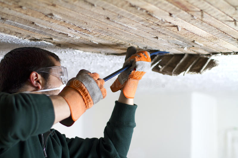 Download Ceiling Scrape stock image. Image of remodel, green, construction - 29261439