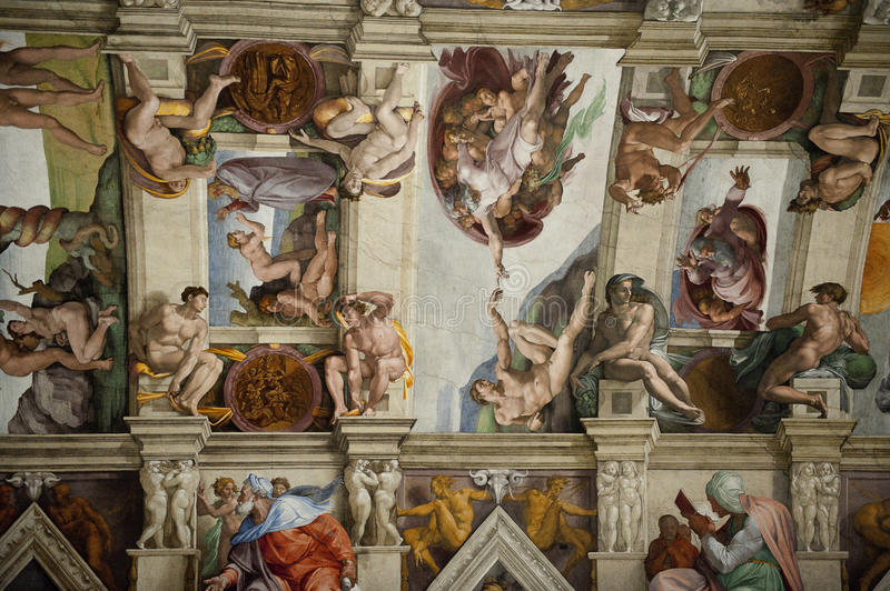 Download The Ceiling In The Sistine Chapel In The Vatican Editorial Stock  Photo   Image Of