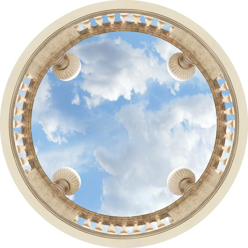 The ceiling of the sky royalty free stock photography