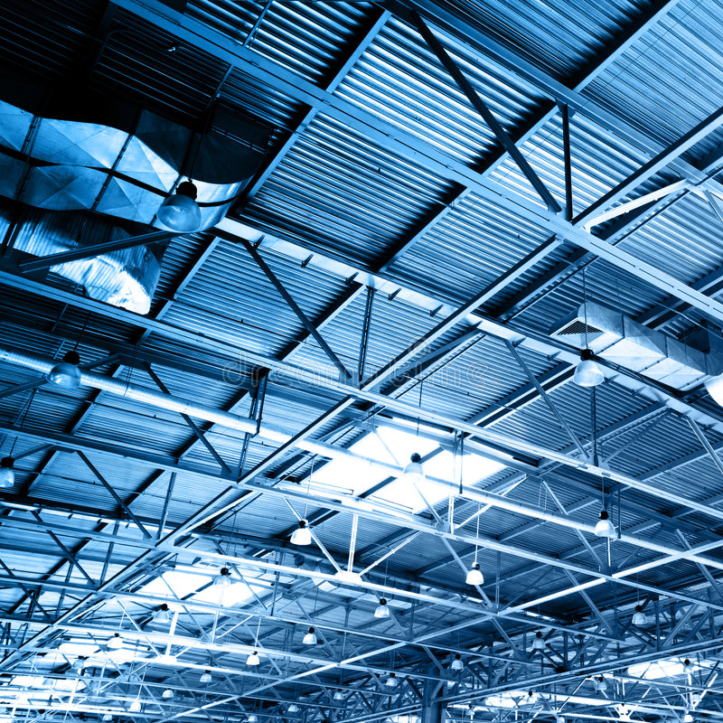 Ceiling of storehouse stock photos