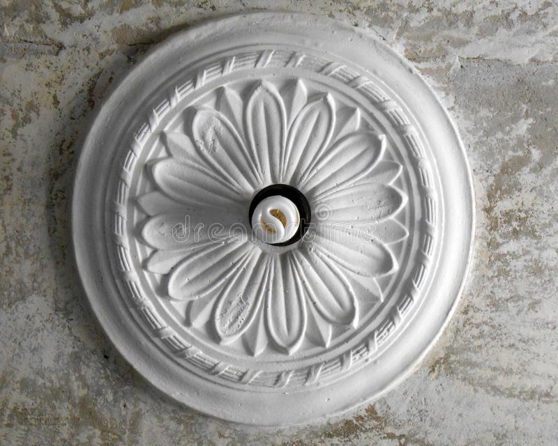 Ceiling-stucco In The Form Of A Flower Stock Image - Image ...
