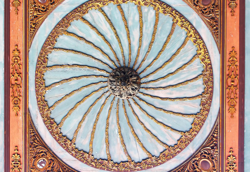 Ceiling of Topkapi Palace in Istanbul, Turkey stock photo