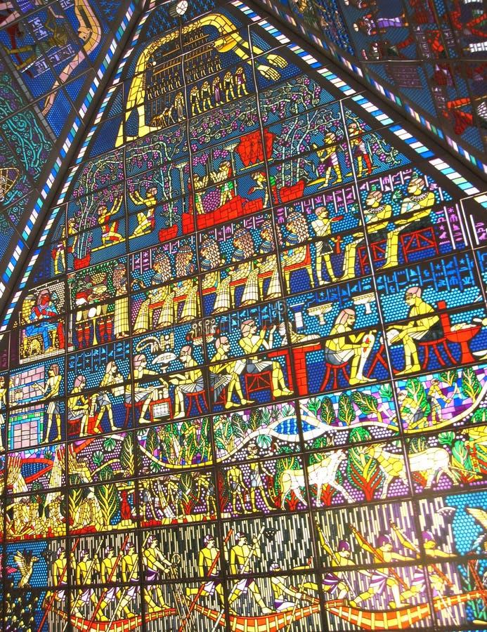 Ceiling in wafi mall dubai royalty free stock photos