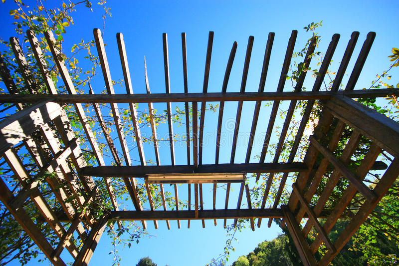 Ceiling wooden slats royalty free stock photo