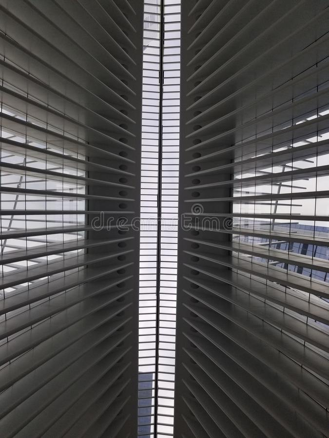 Ceiling of the World Trade Center Observatory. Ceiling world trade center observatory stock images