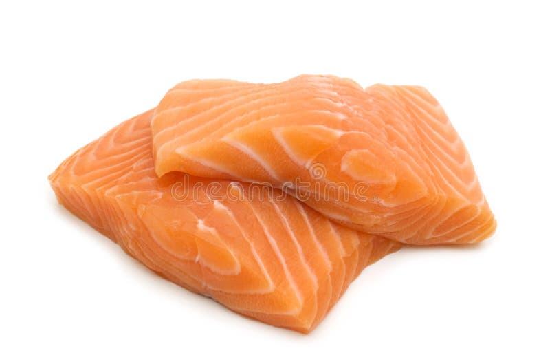 ceint d'un bandeau des saumons image libre de droits