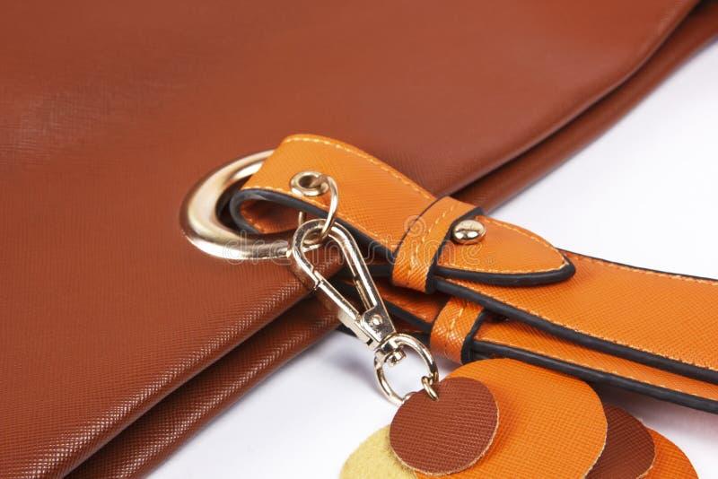 Ceinture brune 4 de sac en cuir de femmes photo libre de droits