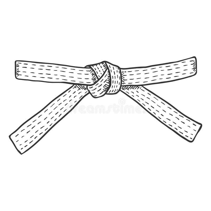 Ceinture de karaté de croquis de vecteur illustration de vecteur