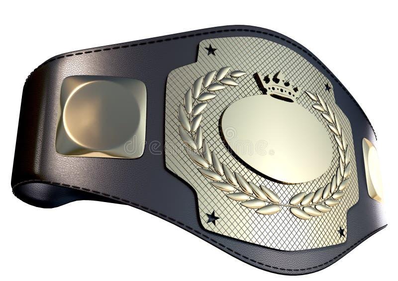ceinture du championnat 3D image libre de droits