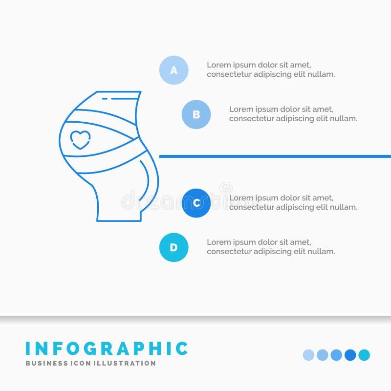 Ceinture, s?curit?, grossesse, calibre enceinte, de femmes d'Infographics pour le site Web et pr?sentation Ligne style infographi illustration libre de droits