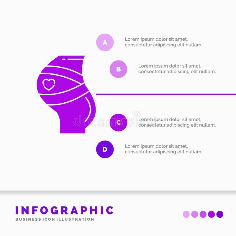 Ceinture, s?curit?, grossesse, calibre enceinte, de femmes d'Infographics pour le site Web et pr?sentation Style infographic d'ic illustration libre de droits