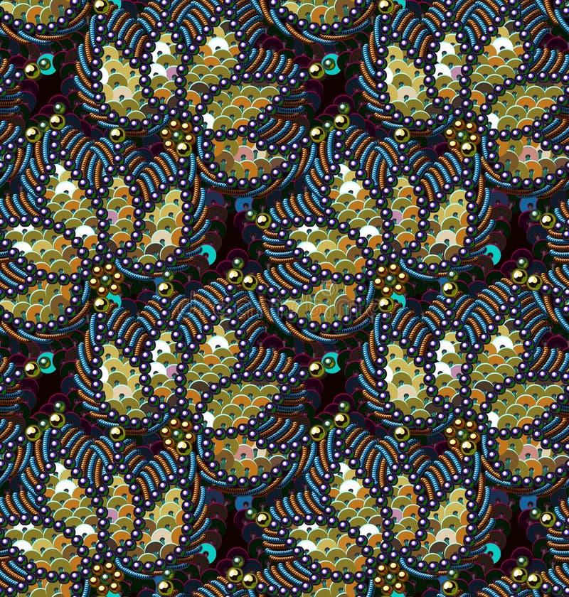 Cekinu Bezszwowy wzór Wektorowy tło royalty ilustracja