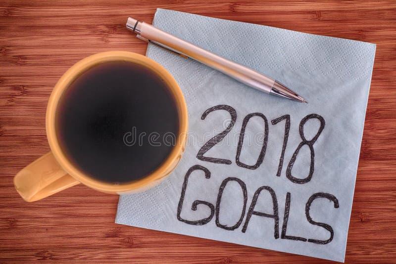 2018 celów handwriting na pielusze zdjęcie royalty free