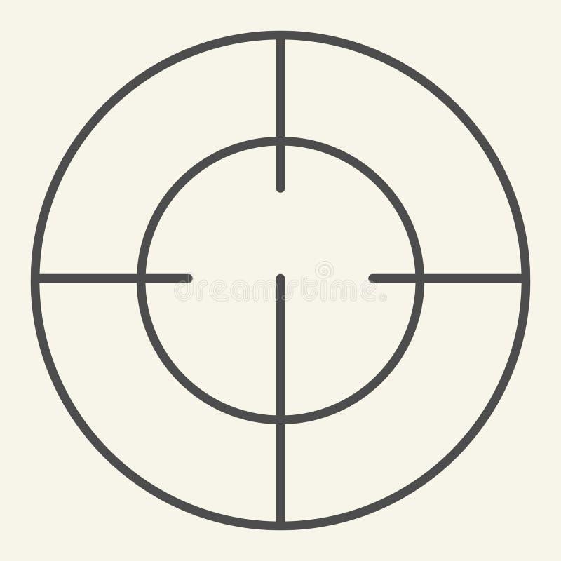 Cel cienka kreskowa ikona Ostrości wektorowa ilustracja odizolowywająca na bielu Bramkowy konturu stylu projekt, projektujący dla ilustracja wektor