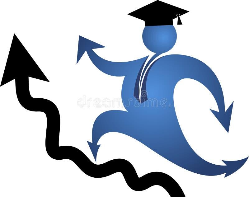 Cel edukaci logo ilustracja wektor