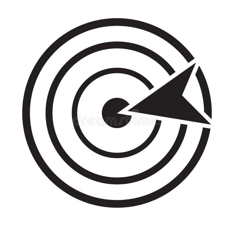 Cel ikona na białym tle Mieszkanie styl cel ikona dla twój strona internetowa projekta, logo, app, UI dokładność symbol piktograf ilustracja wektor