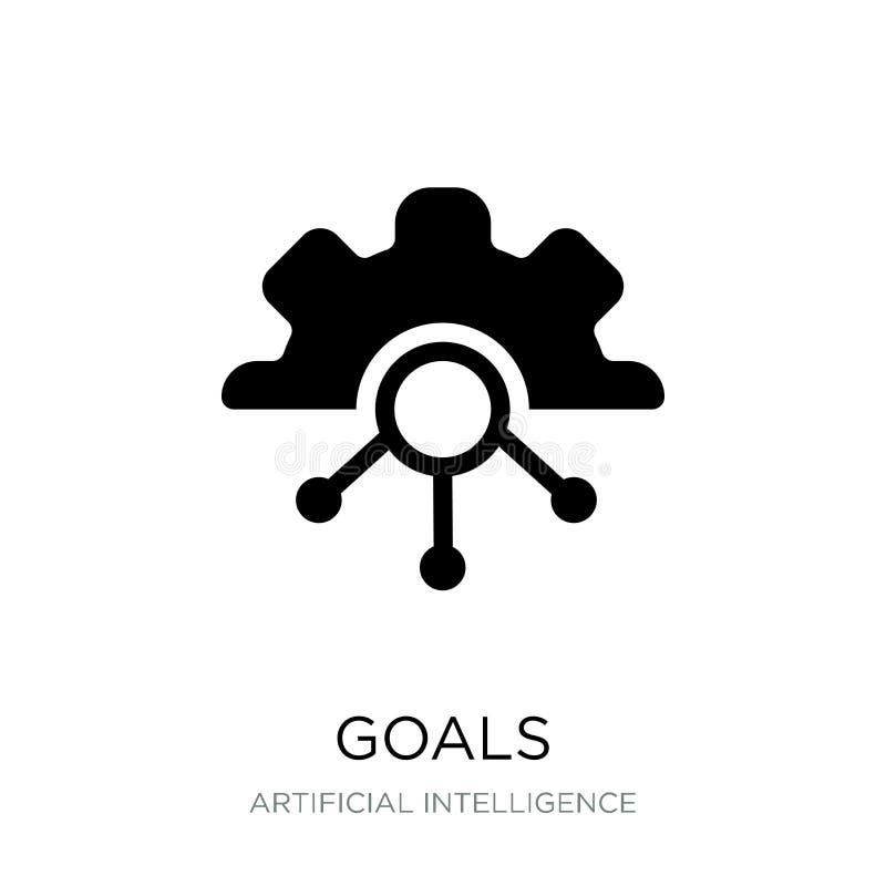 cel ikona w modnym projekta stylu cel ikona odizolowywająca na białym tle cel wektorowej ikony prosty i nowożytny płaski symbol d royalty ilustracja