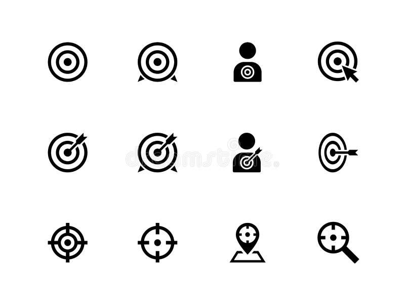 Cel ikony na białym tle. royalty ilustracja