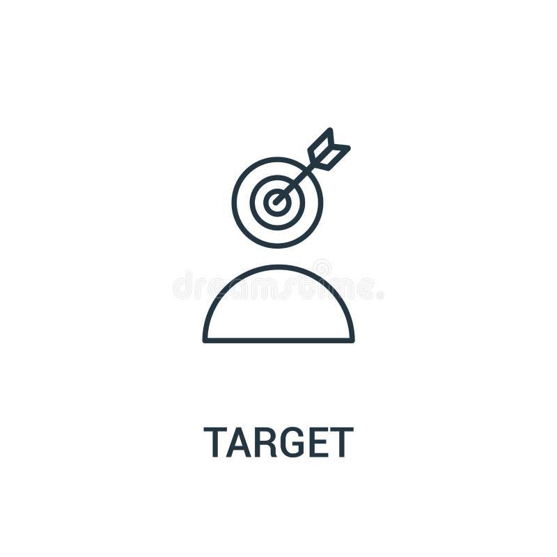 cel ikony wektor od reklam inkasowych Cienka kreskowa celu konturu ikony wektoru ilustracja Liniowy symbol dla używa na sieci i w ilustracji