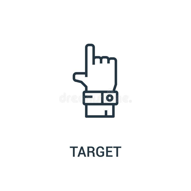 cel ikony wektor od seo kolekcji Cienka kreskowa celu konturu ikony wektoru ilustracja Liniowy symbol dla używa na sieci i wisząc ilustracja wektor