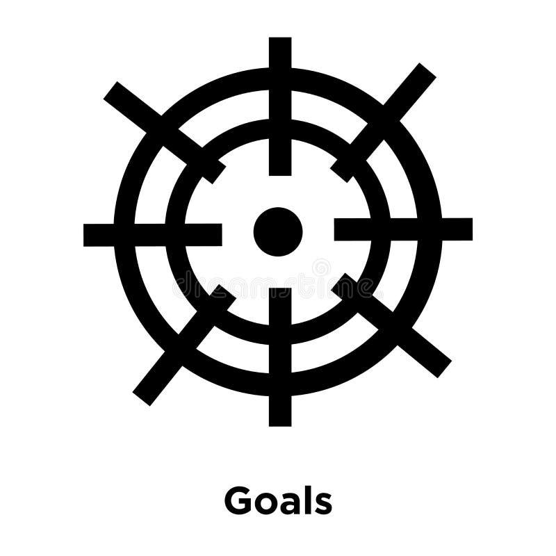 Cel ikony wektor odizolowywający na białym tle, loga pojęcie ilustracji