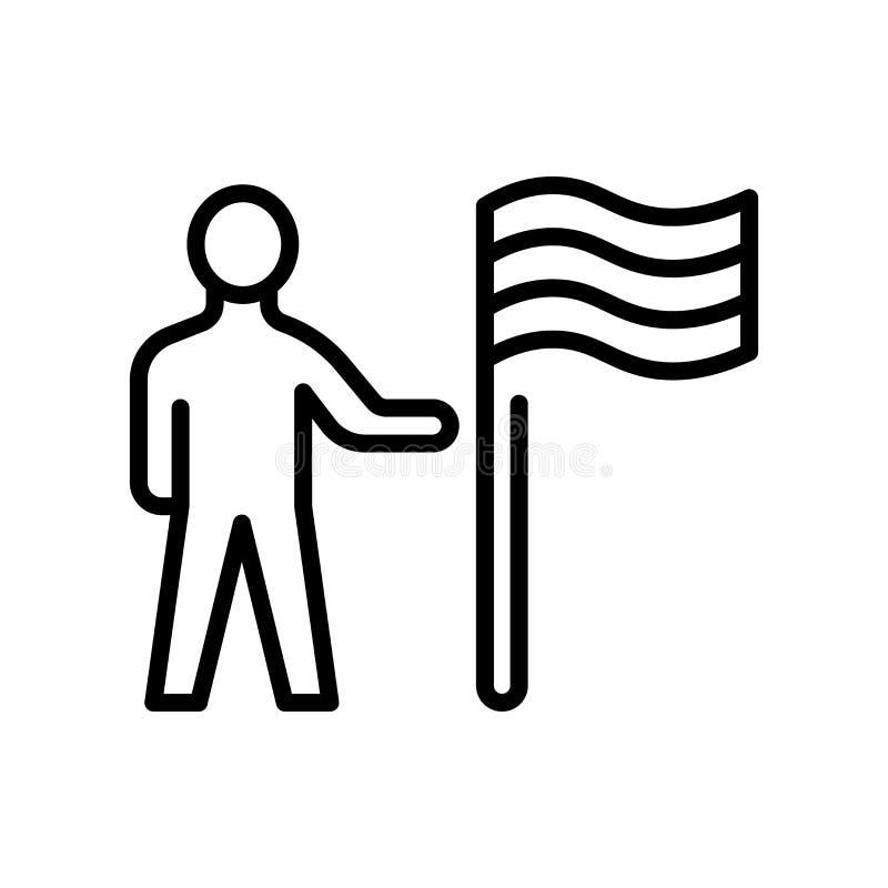 Cel ikony wektoru znak i symbol odizolowywający na białym tle ilustracja wektor